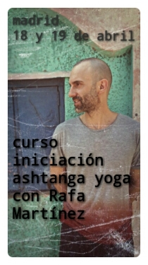 Profesor Rafael Martínez Alcaraz Ashtanga yoga